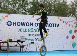 Tek Teker Bisiklet Gösterisi